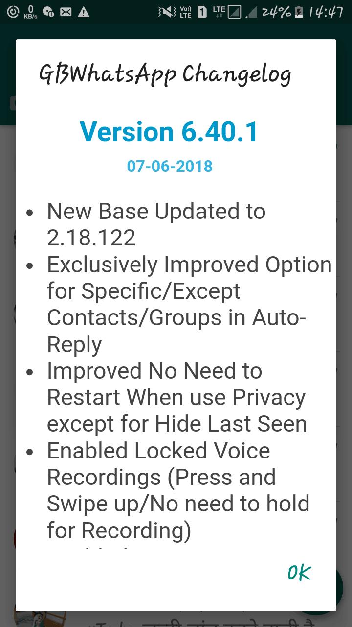 GBWhatsapp 6.40.1